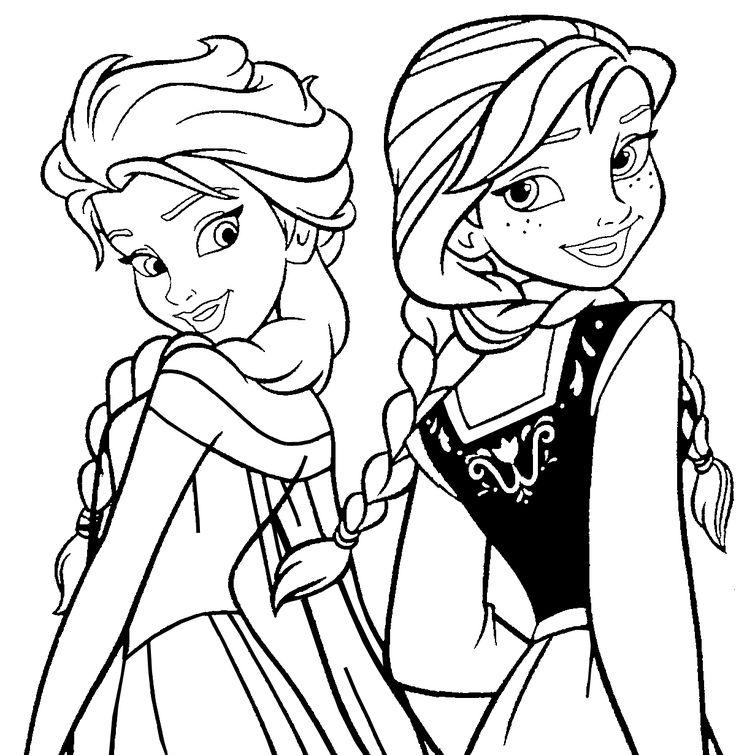 Målarboksbilder Disney Frost Frozen Teckningar Att